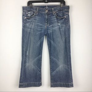7 For All Mankind Crop Dojo Capri Cropped Jeans 30